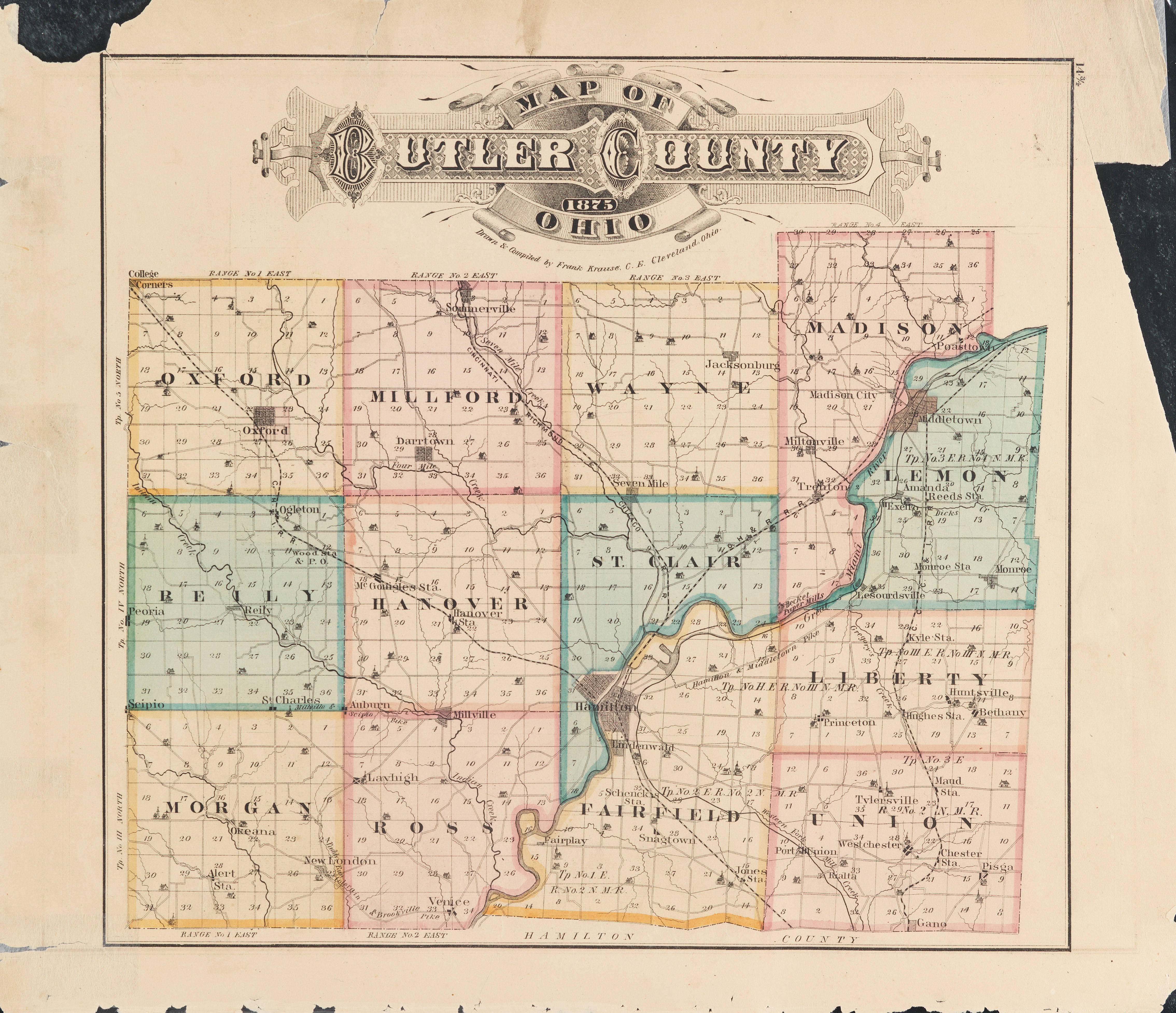 Butler County 1875 Atlas
