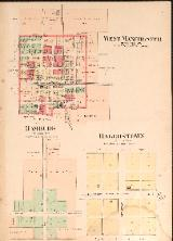 1912 Map of Hagerstown, Hamburg & West Manchester