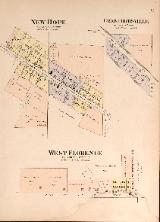 1912 Map of Crawfordsville, New Hope & West Florence