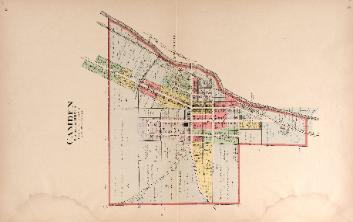 1912 Map of Camden