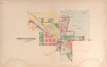 1912 Map of College Corner